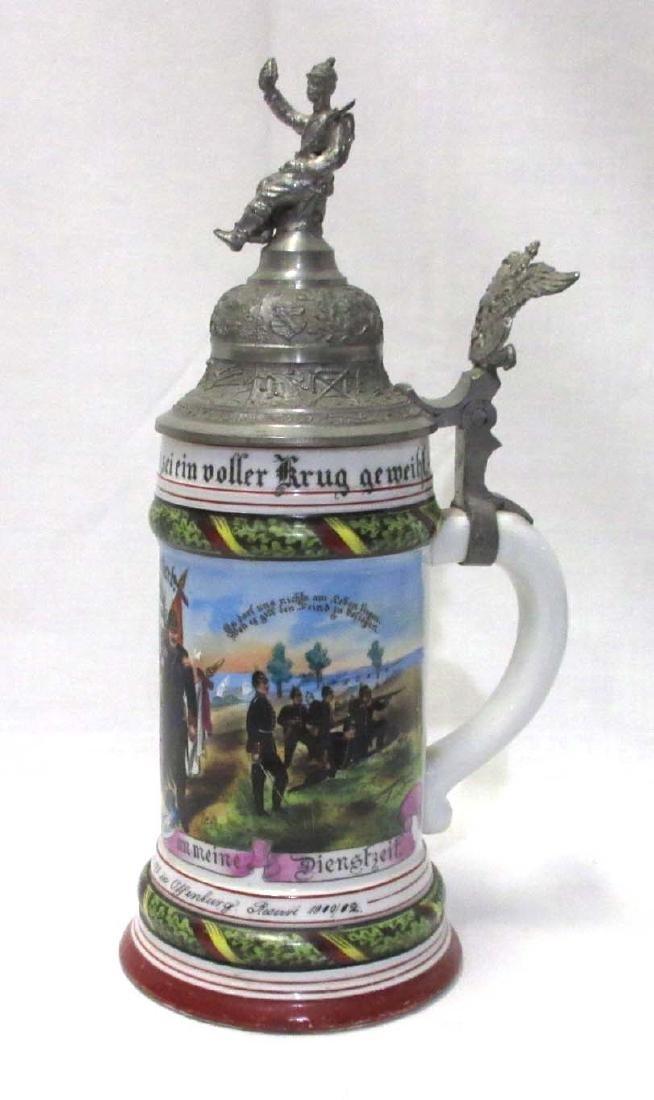 German Regimental Beer Stein