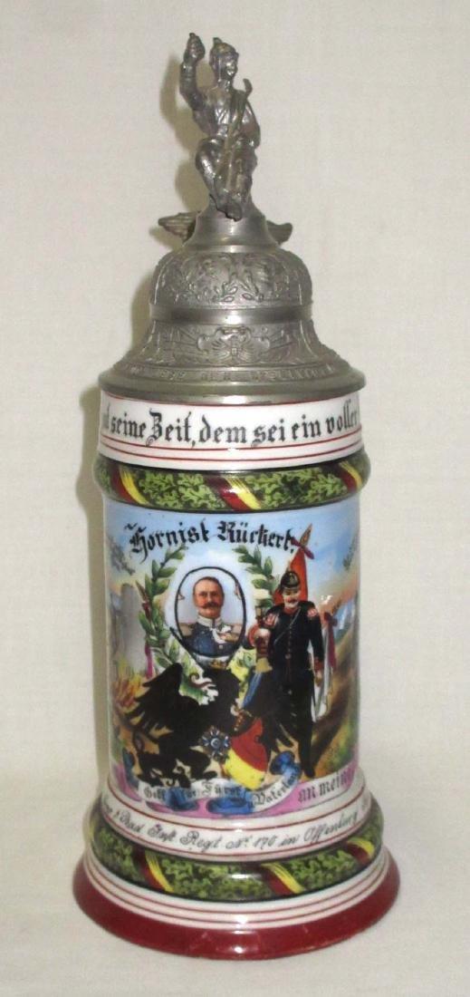 German Regimental Beer Stein - 2