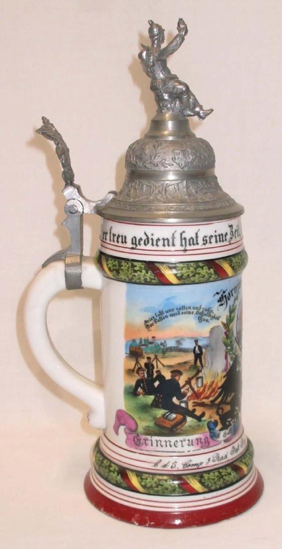 German Regimental Beer Stein - 3