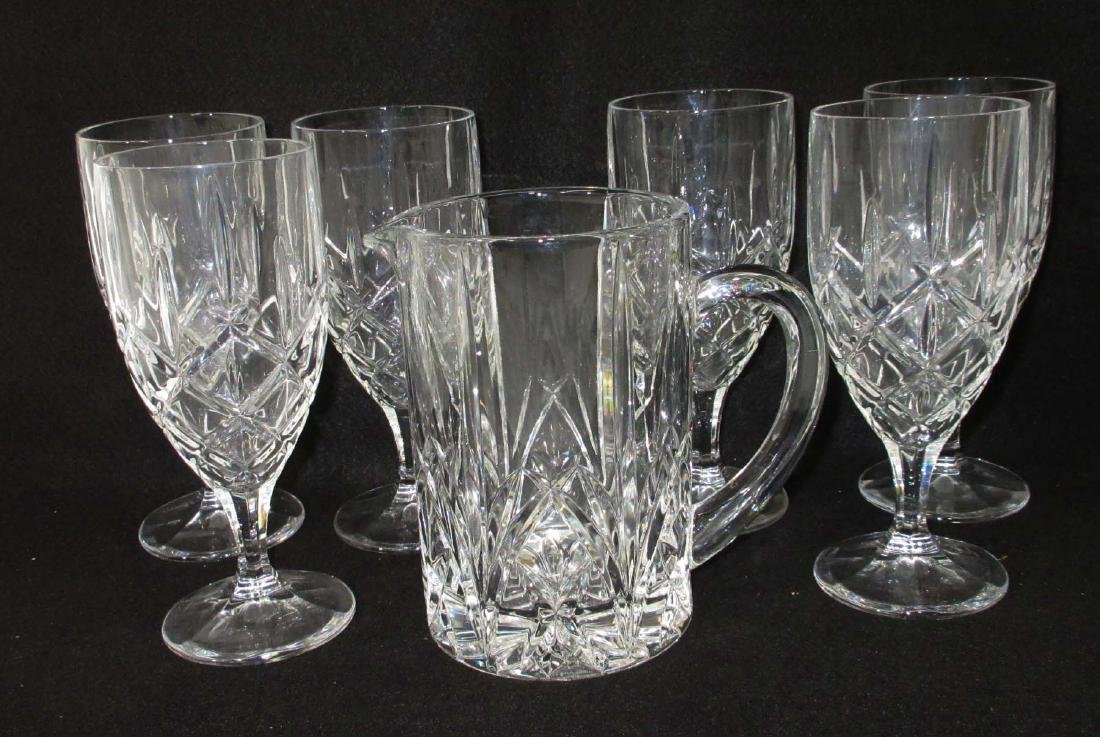 "7 Pc. Waterford ""Marquis"" Pitcher & Glasses"