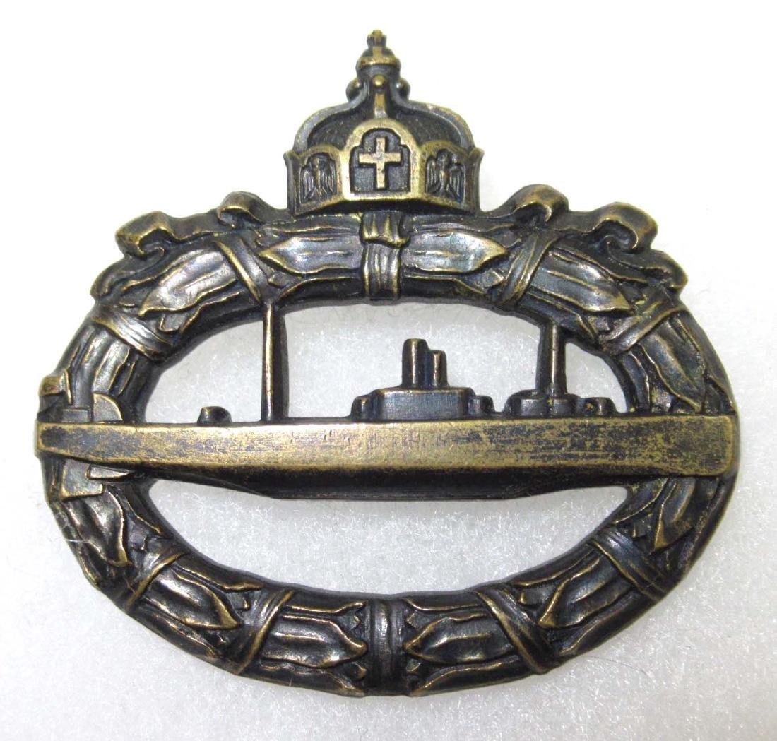 German WW 1 Submarine Badge