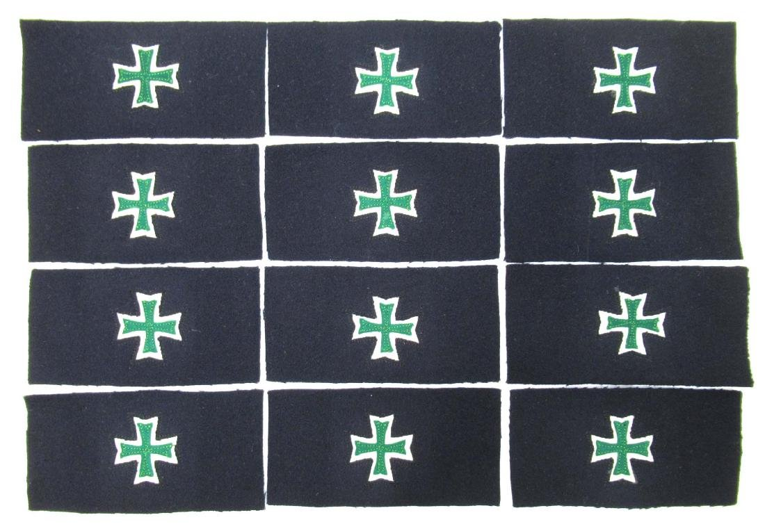 12 US Indian Wars Sleeve Insignias New Old Stock