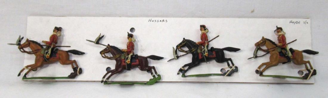 4 Lead Soldiers Hussar Cavalrymen