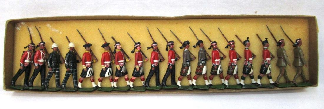 18 Lead Soldiers Scottish Guards, Orig Box