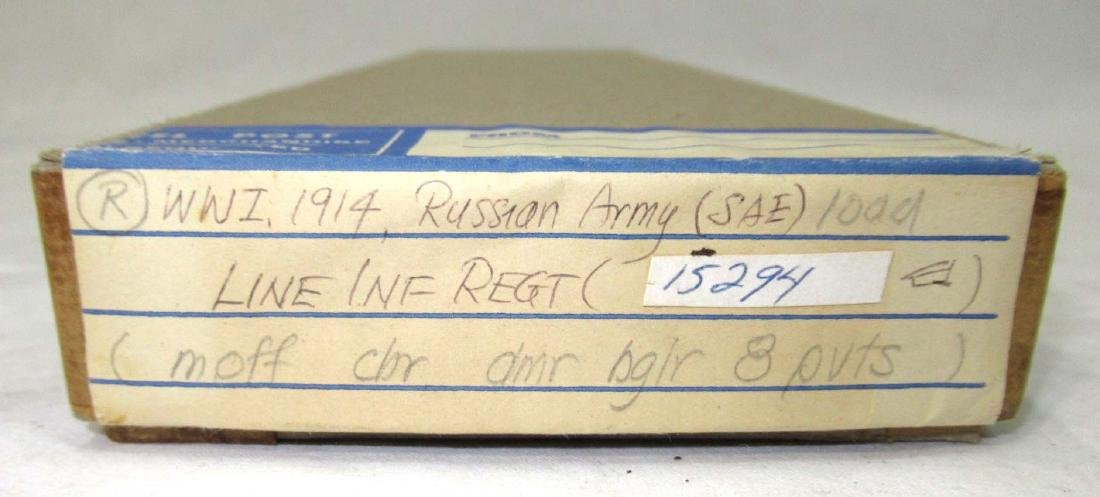 7 Lead Soldiers WW 1 Russian Army, Orig. Box - 3