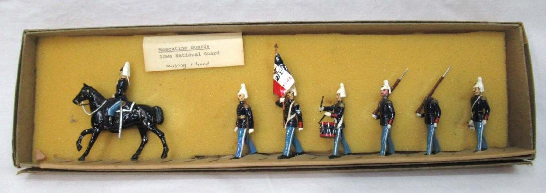 7 Lead Soldiers Iowa National Guard, Orig. Box