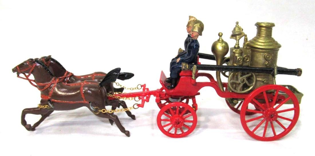 Lead Pumper Fire Wagon & Horses