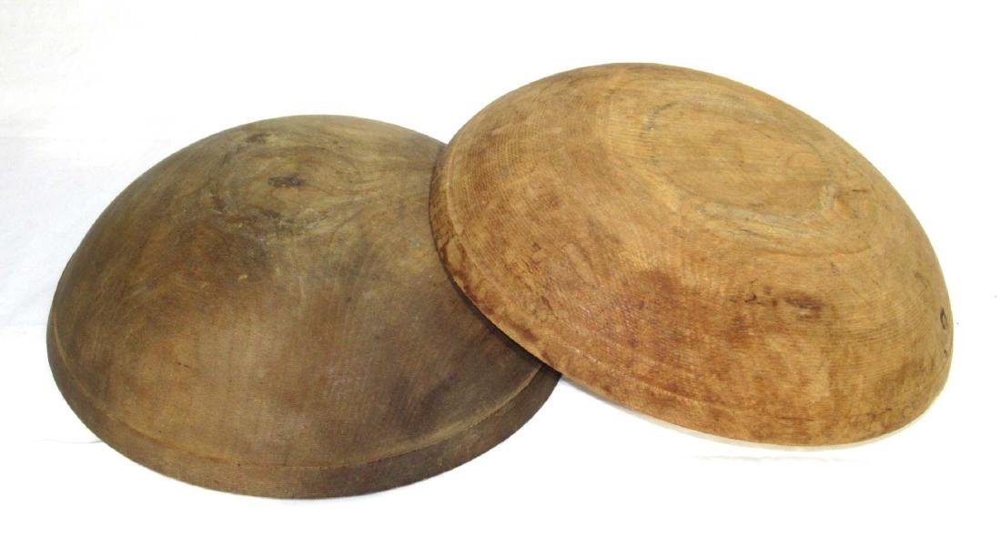 2 Early Wooden Bowls - 4