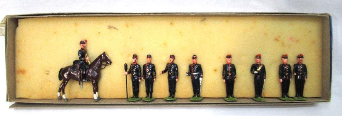 9 Lead Soldiers WW 1 Belgium Army, Orig. Box