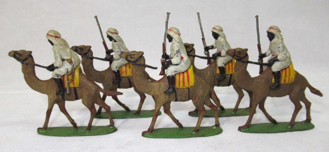 5 Lead Soldiers Camel Cavalrymen