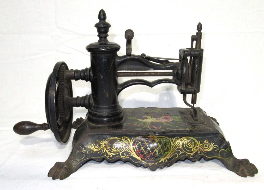 Early Cast Iron Paw Foot Sewing Machine
