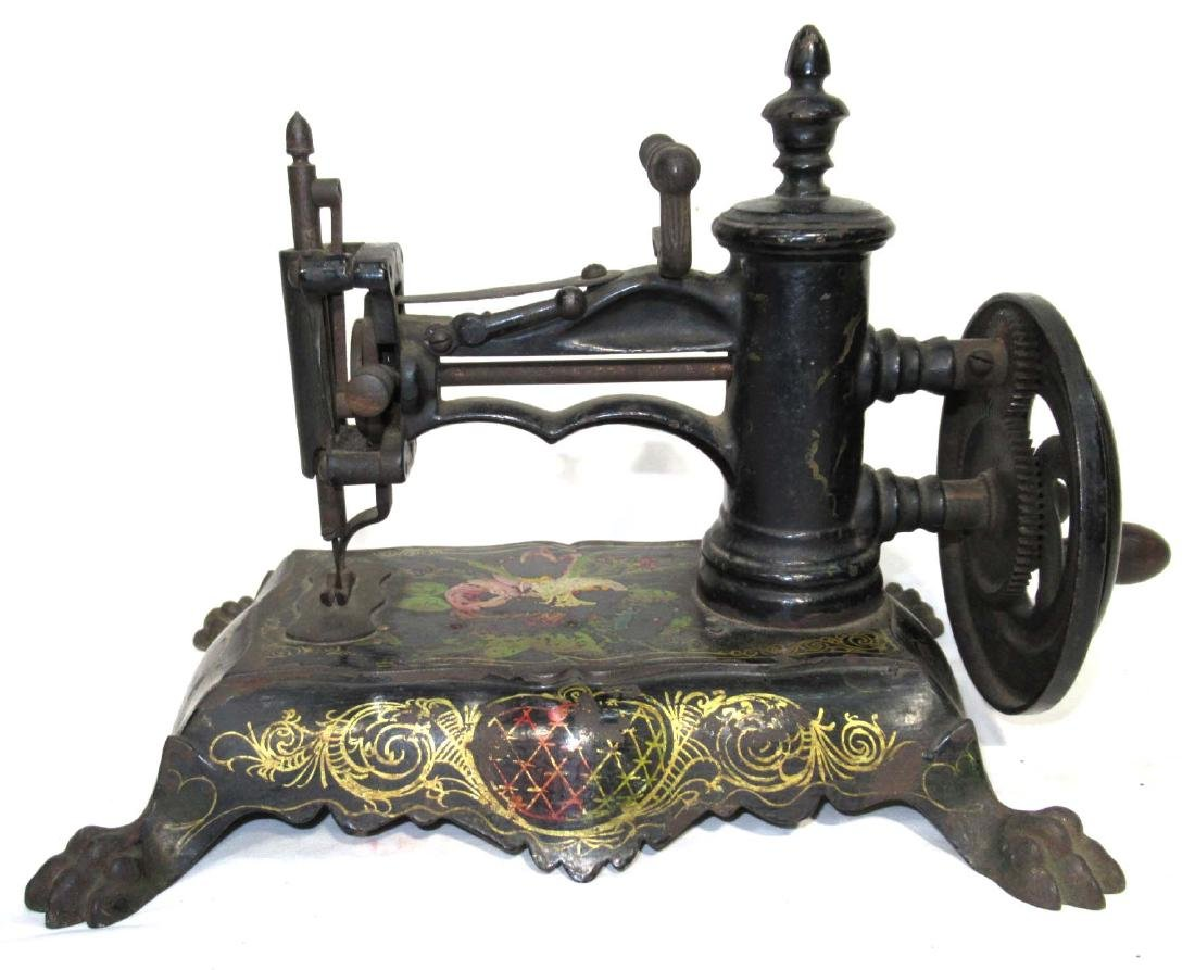 Early Cast Iron Paw Foot Sewing Machine - 3