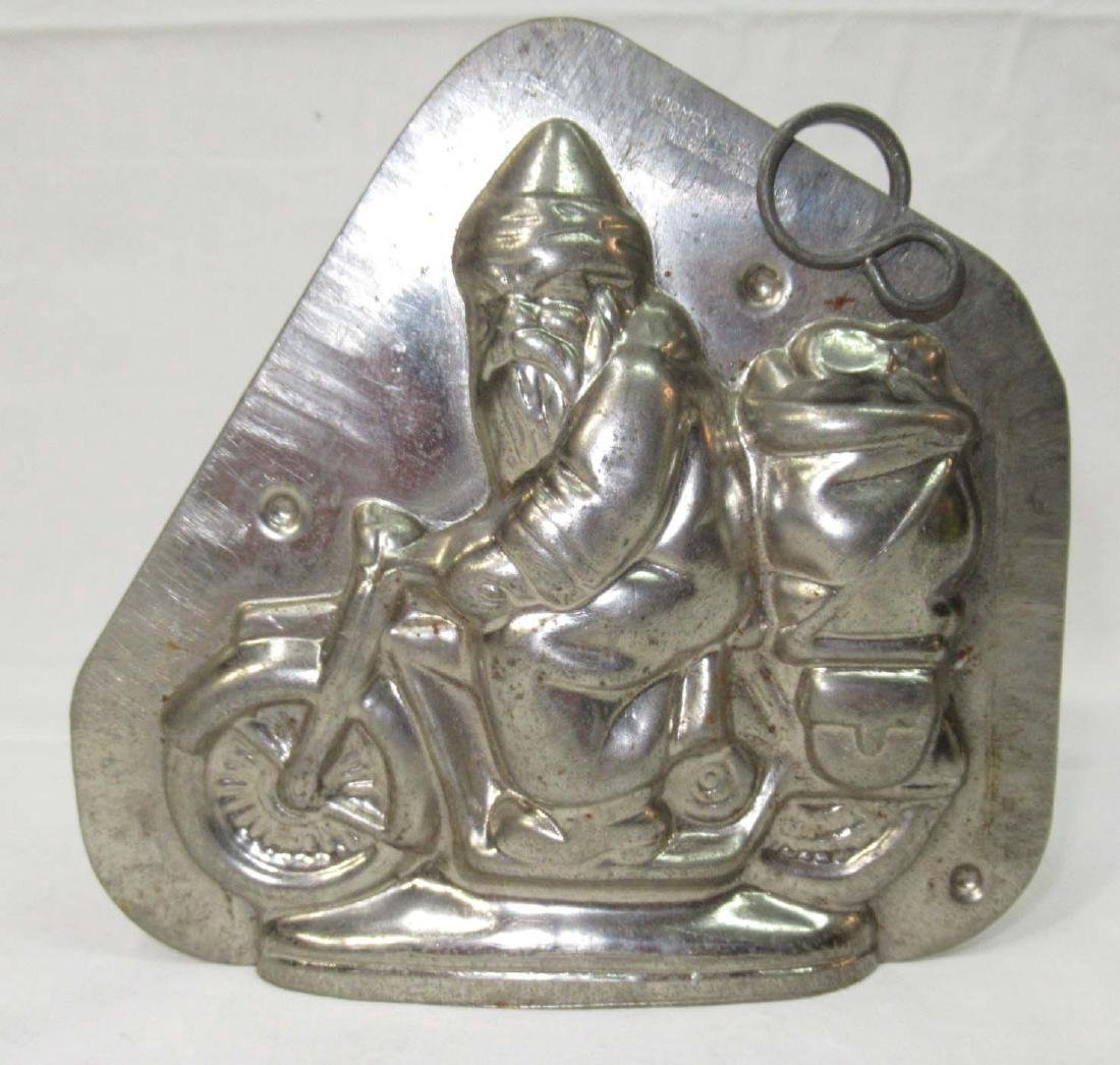Santa on a Motorcycle Chocolate Mold