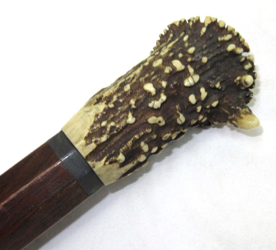 Stag Handle Octagonal Cane - 3