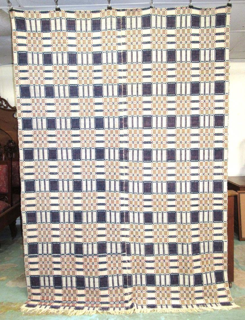 Hand Woven Early Coverlet