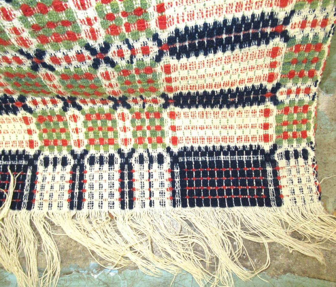Hand Woven Early Coverlet - 3