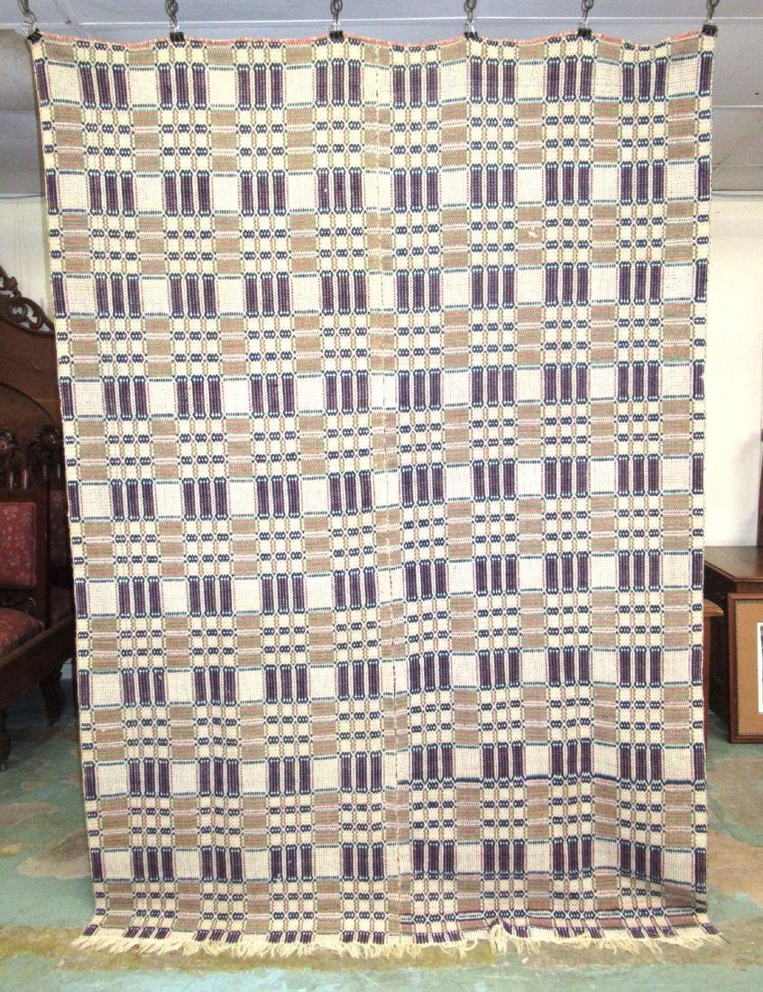 Hand Woven Early Coverlet - 4