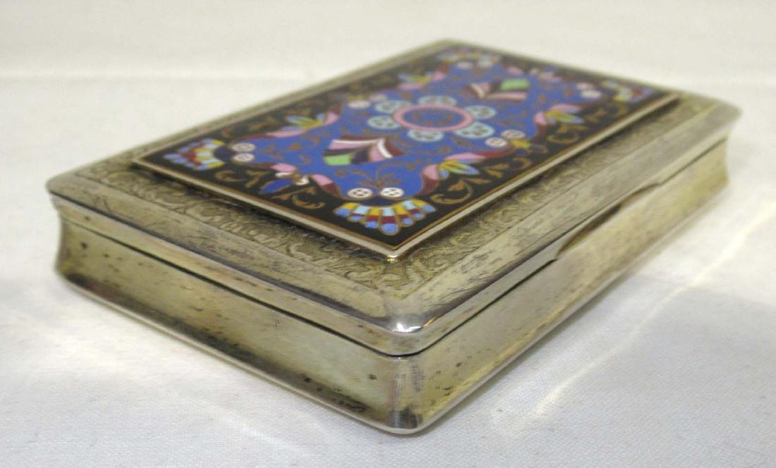 Enameled Silver Snuff Box 96 gm. - 3