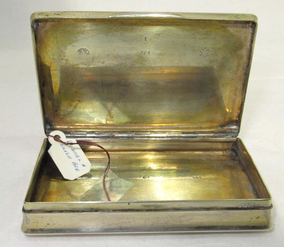 Enameled Silver Snuff Box 96 gm. - 4