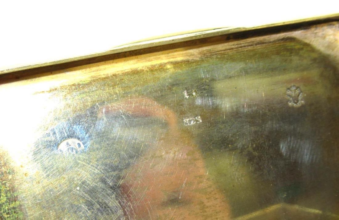 Enameled Silver Snuff Box 96 gm. - 5