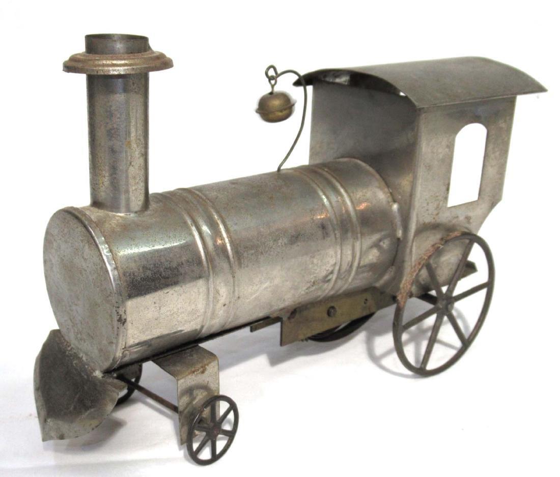 Early Tin Key Wind Locomotive Toy - 2