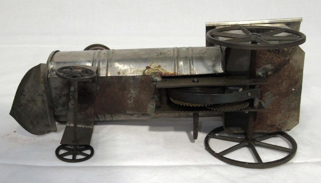 Early Tin Key Wind Locomotive Toy - 3
