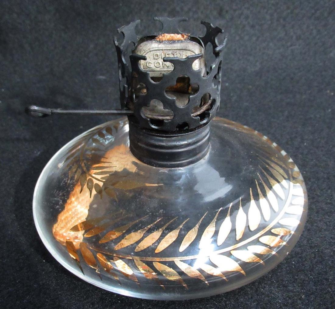 Pancake Oil Lamp w/ Orig. Chimney - 2