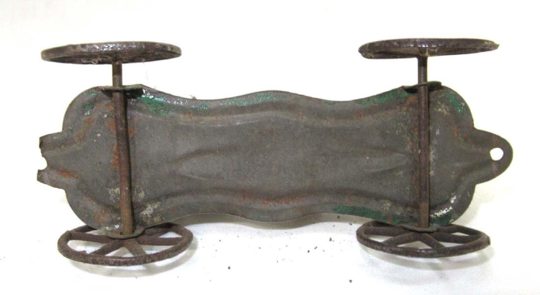 Early Tin Elephant On Platform Toy - 3