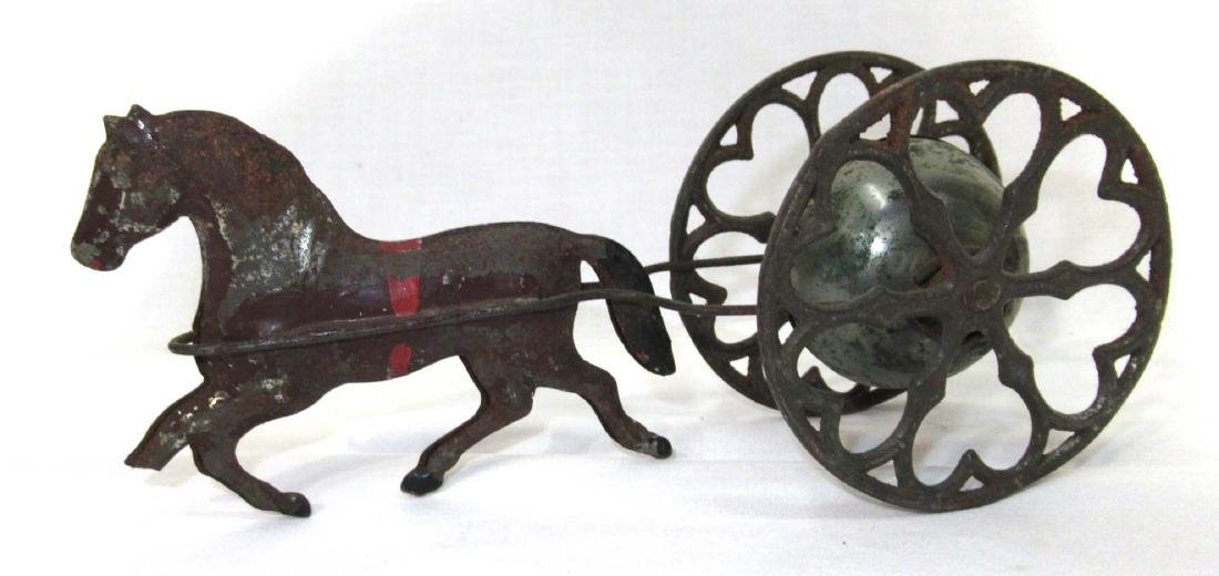 Early Tin Bell Pull Toy