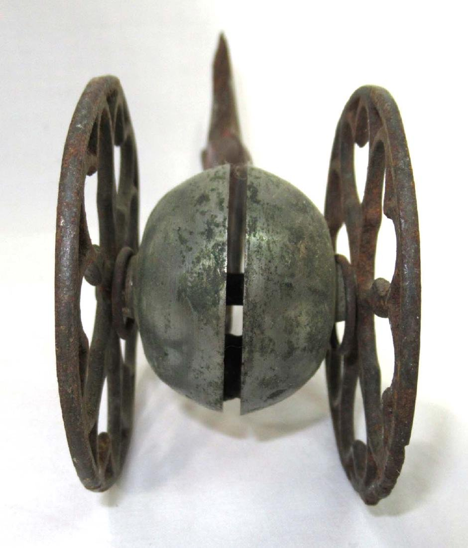 Early Tin Bell Pull Toy - 3