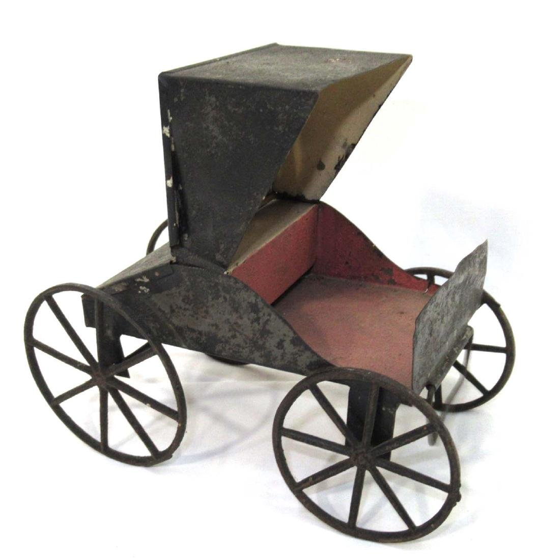 Early Tin Buggy Toy