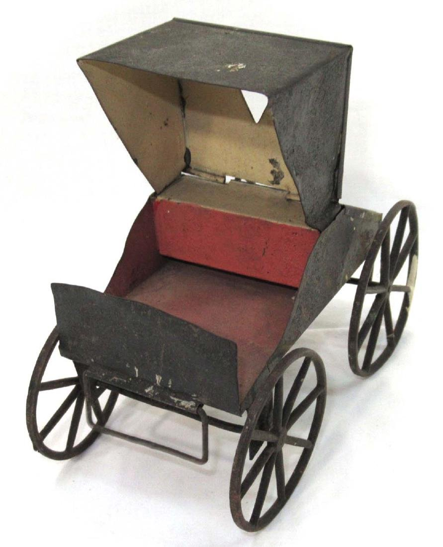 Early Tin Buggy Toy - 2