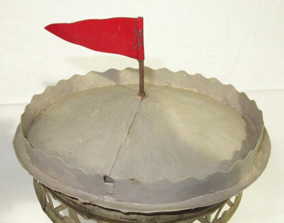 Early Tin Merry Go Round Toy - 2