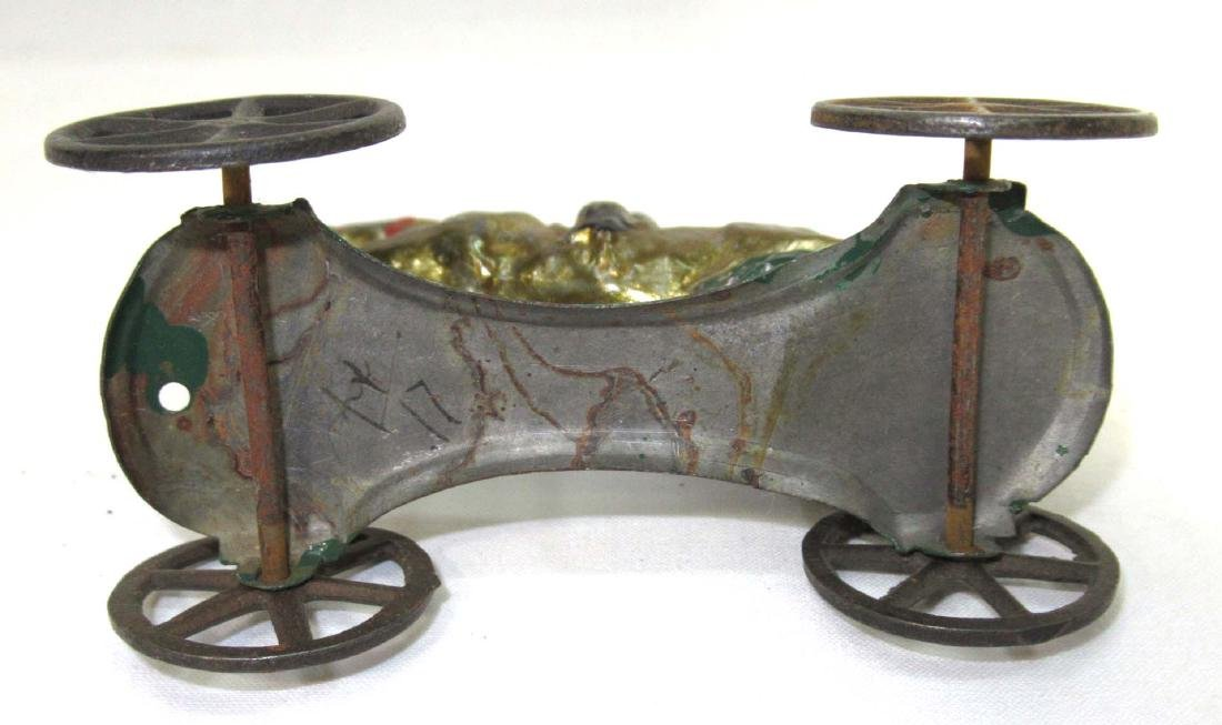 Early Tin Horse & Rider on Platform Toy - 3