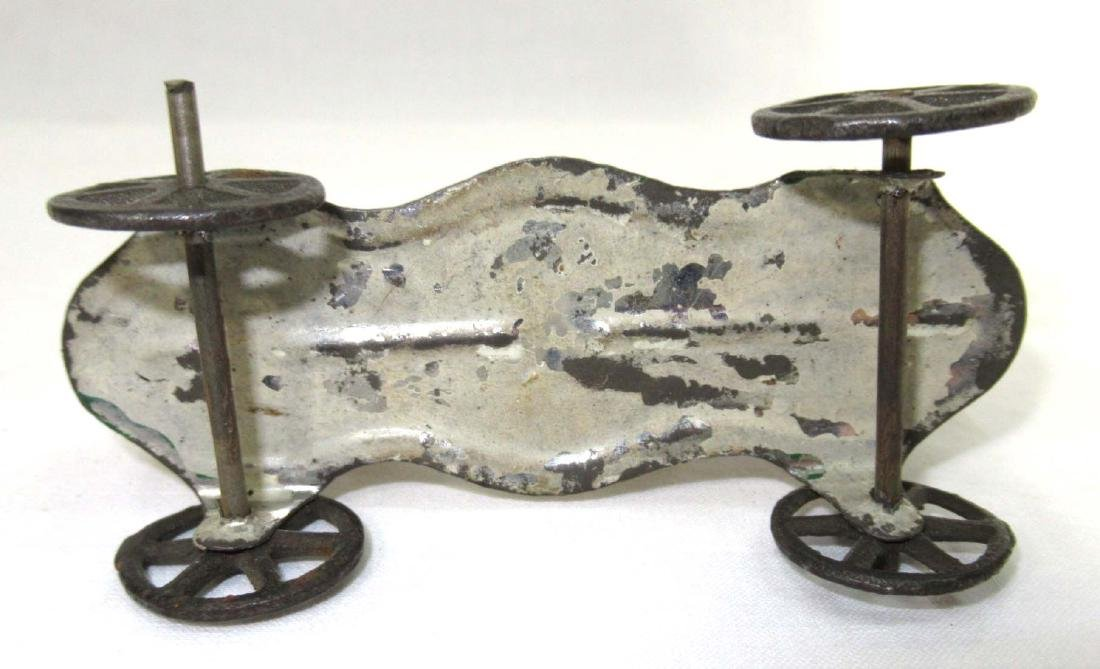 Early Tin Horse On Platform Toy - 3