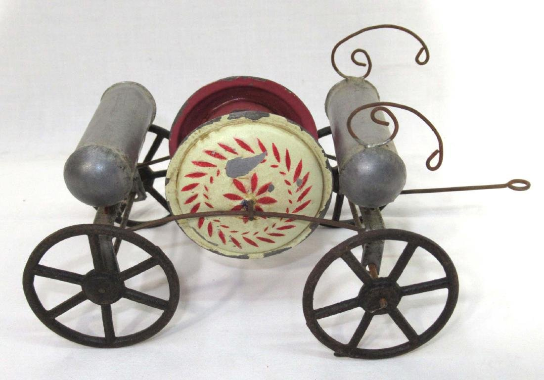 Early Tin Fire Wagon Toy