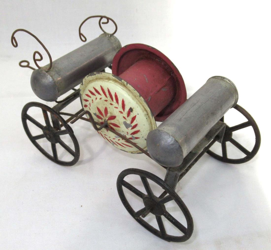 Early Tin Fire Wagon Toy - 2