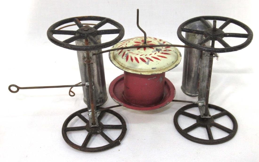 Early Tin Fire Wagon Toy - 3
