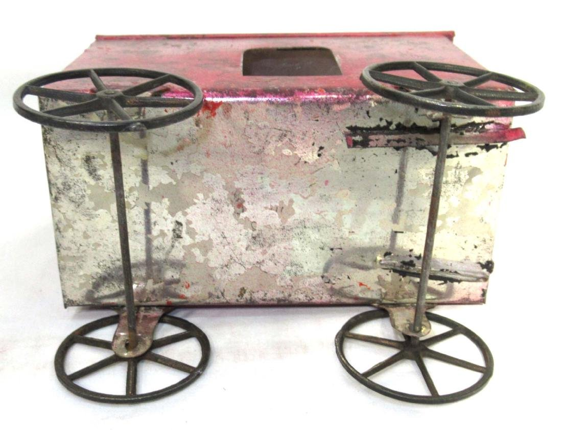Early Tin Cart & Driver Toy - 4