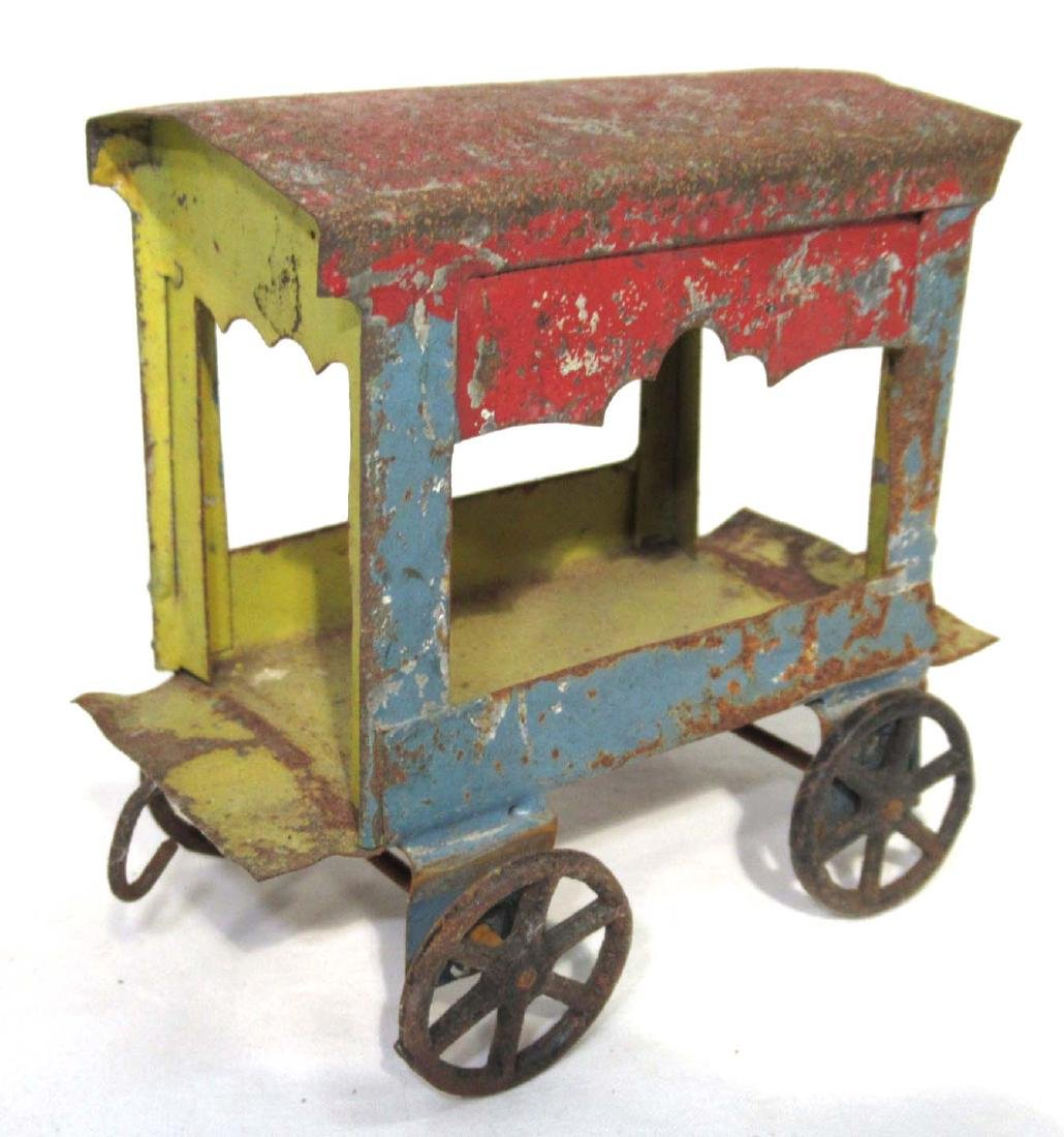 Early Tin Cart Toy
