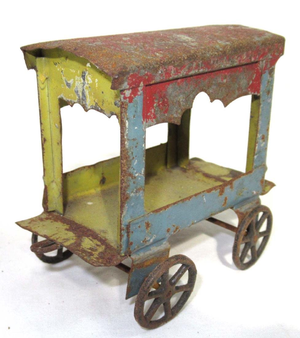 Early Tin Cart Toy - 2