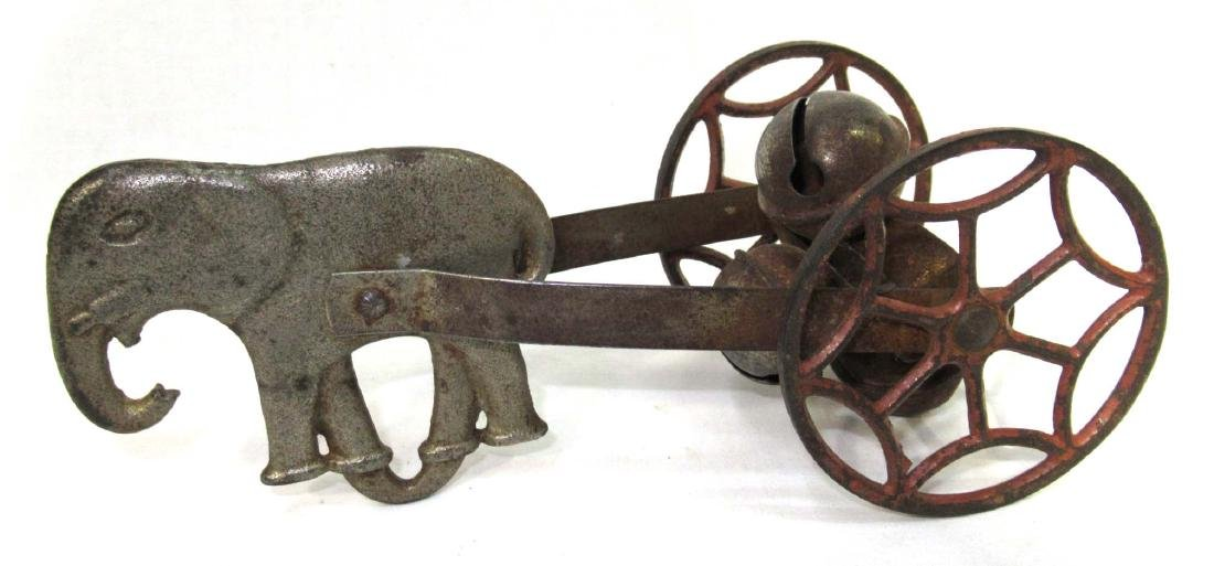Early Cast Iron Bell Pull Toy