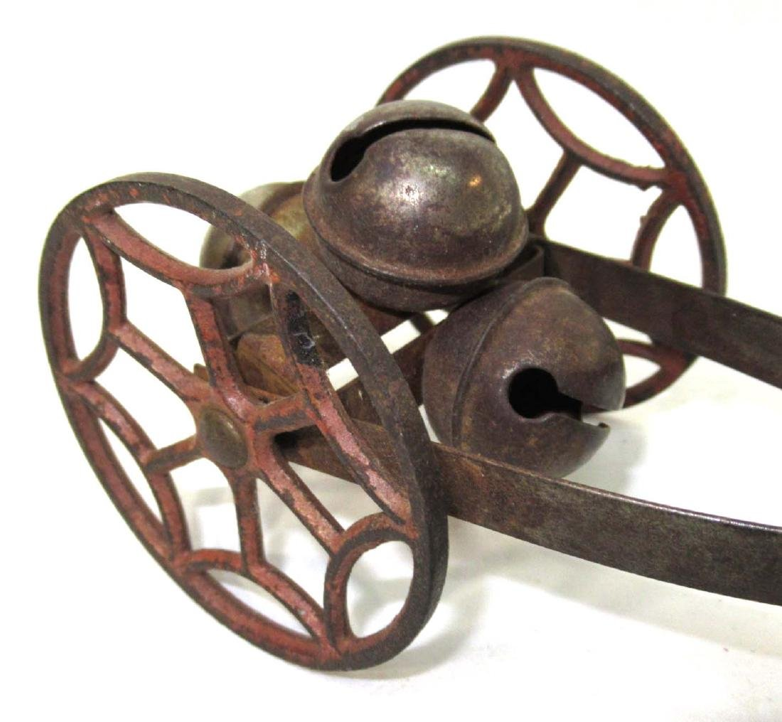 Early Cast Iron Bell Pull Toy - 2