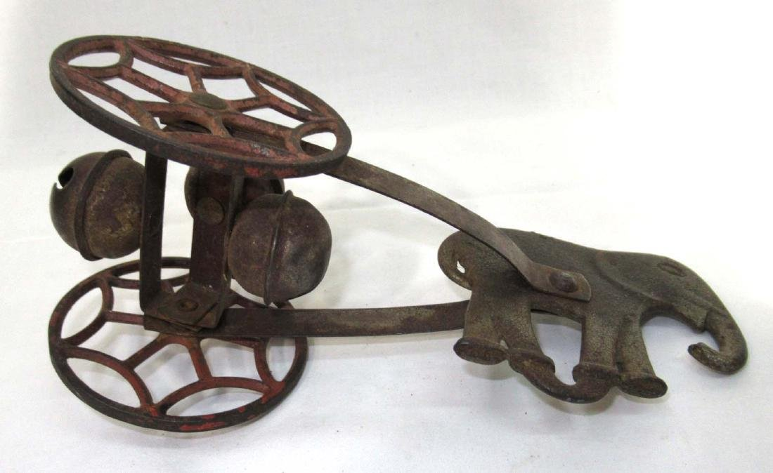 Early Cast Iron Bell Pull Toy - 3