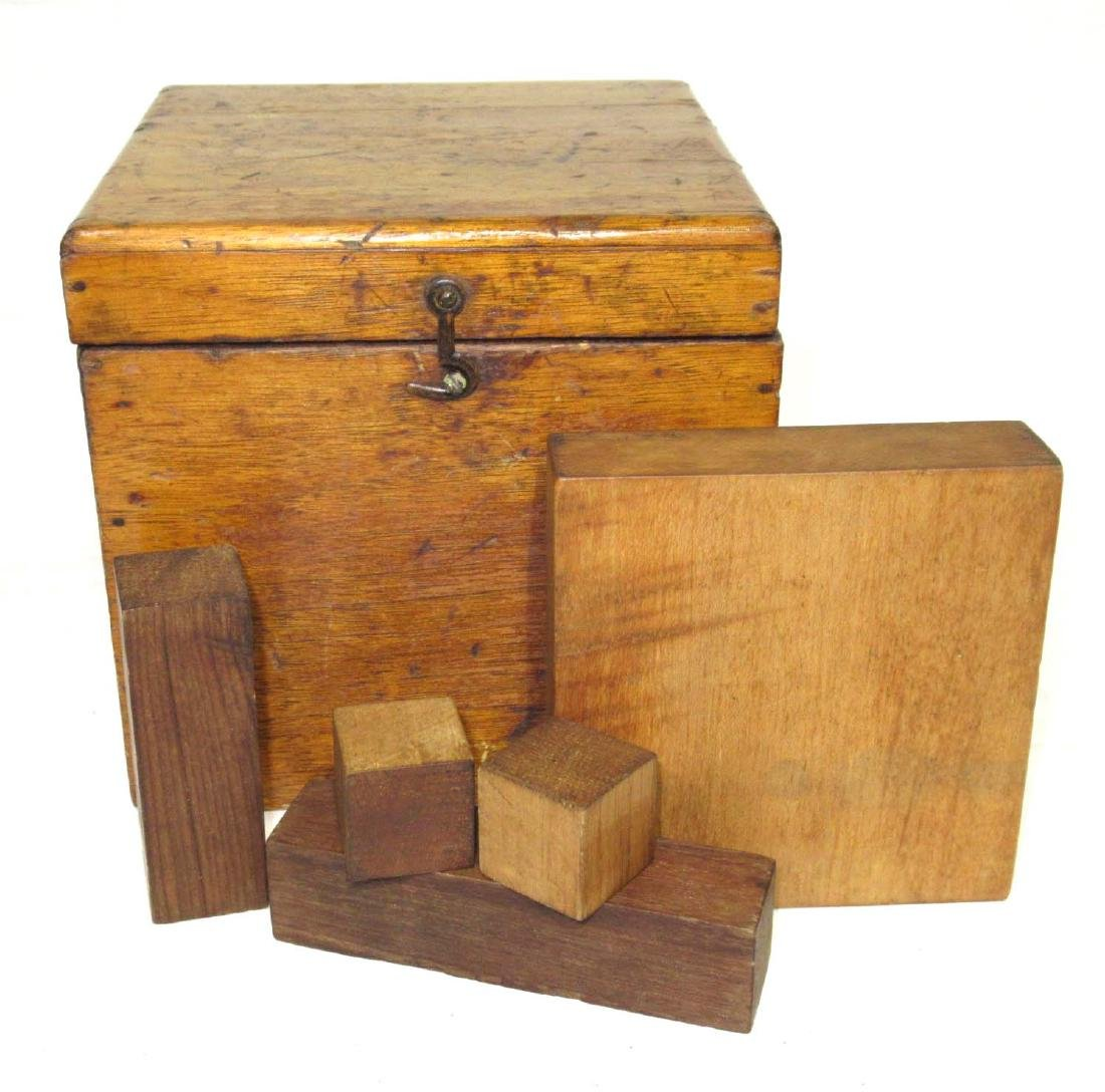Wooden Cube Root Blocks in Orig. Box