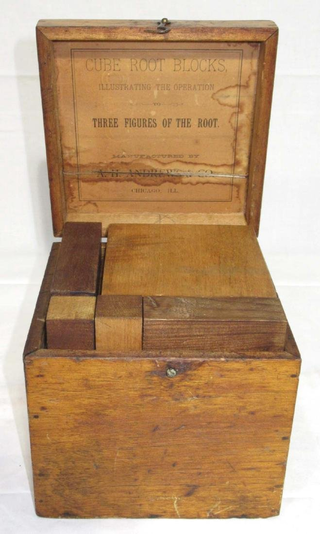 Wooden Cube Root Blocks in Orig. Box - 2