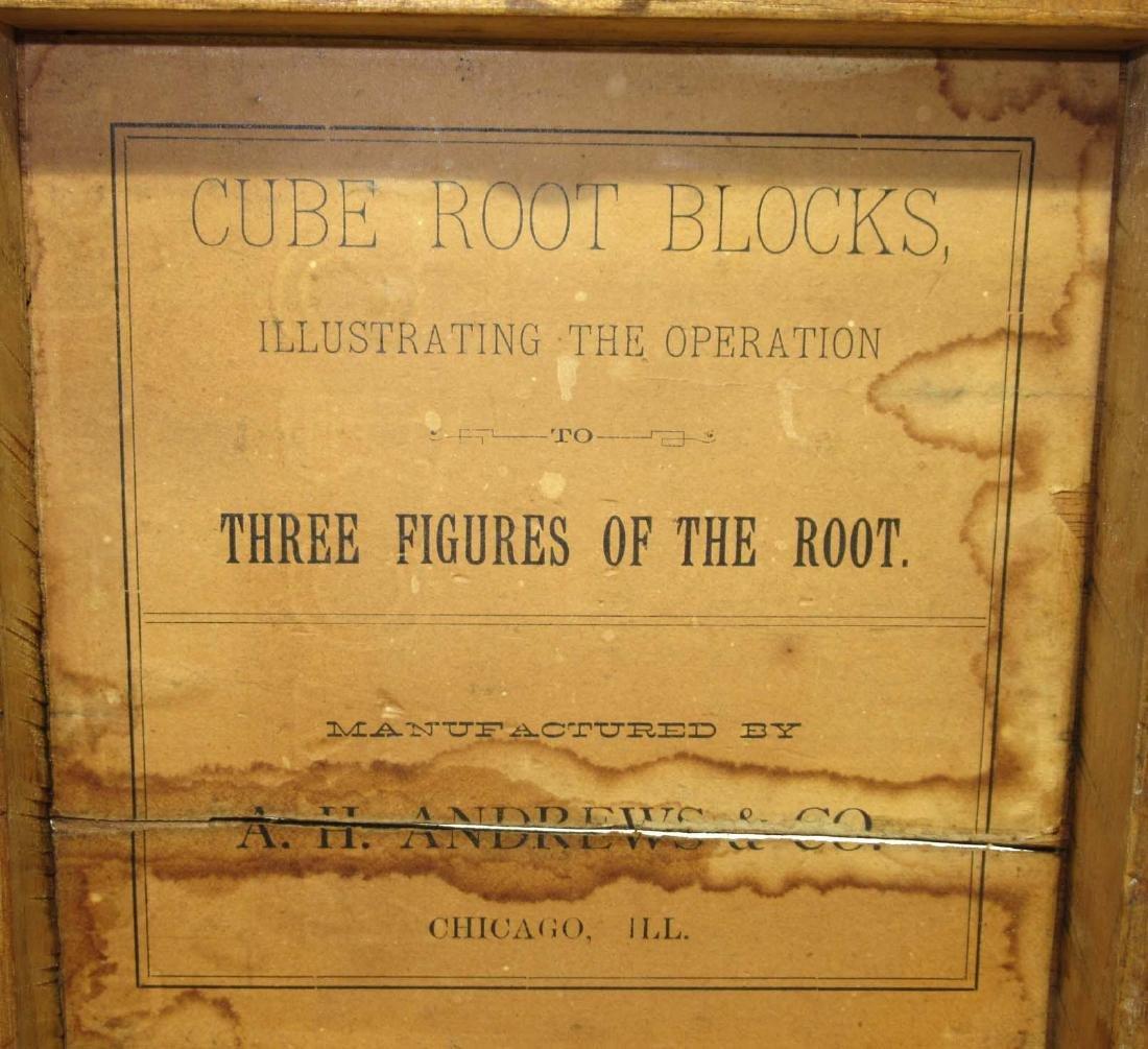 Wooden Cube Root Blocks in Orig. Box - 3