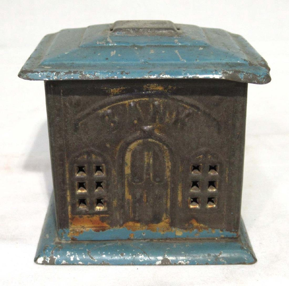 Early Soldered Tin Coin Bank