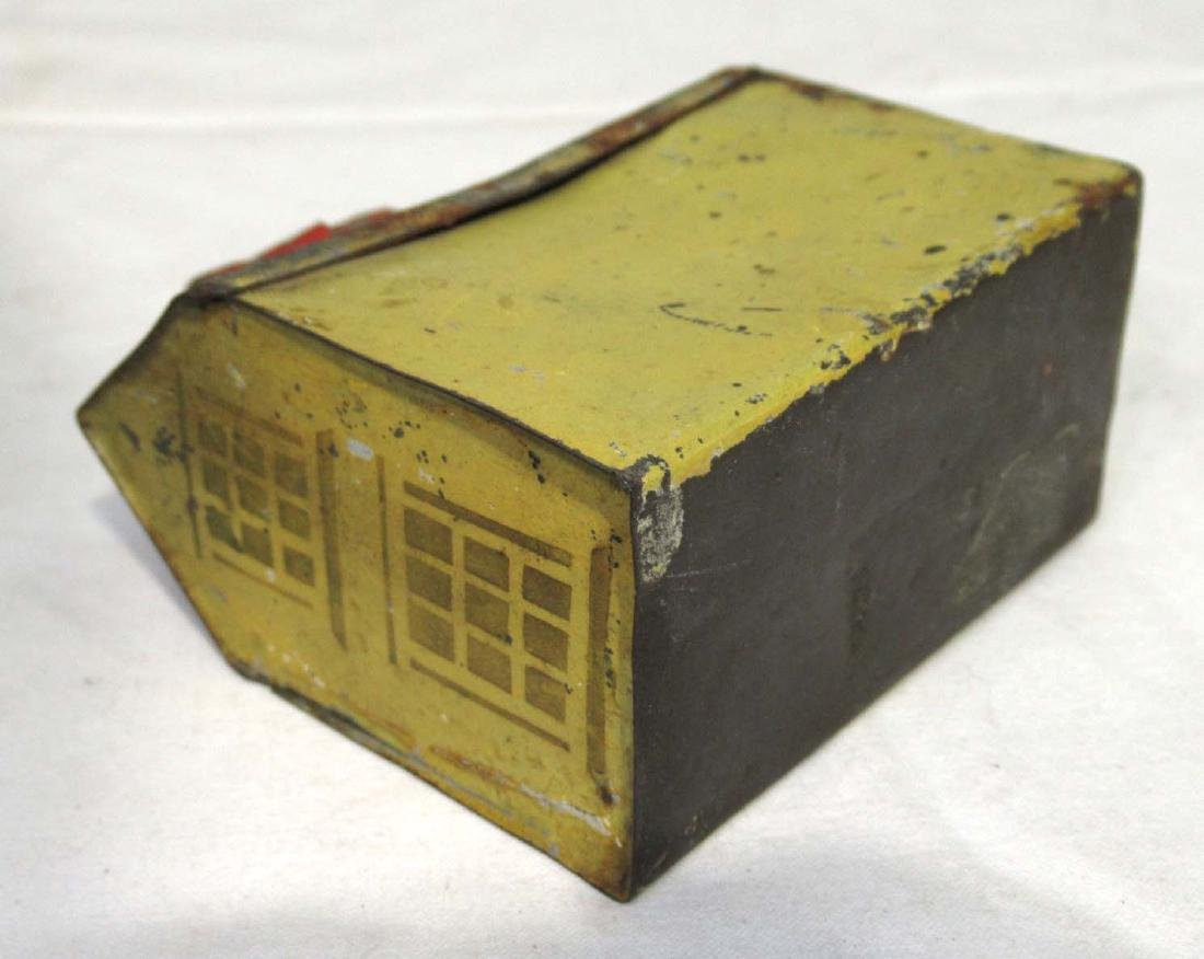 Early Soldered Tin Coin Bank - 3