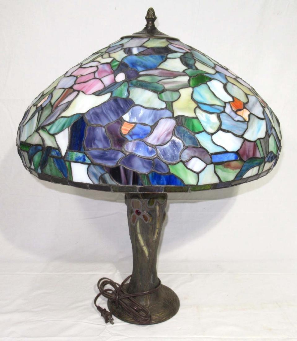 Lg. Leaded Glass Lamp